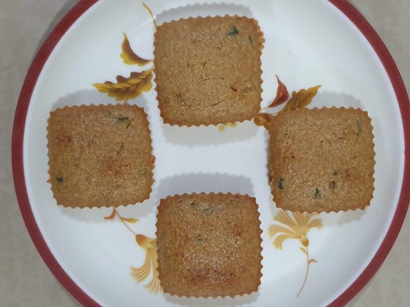 Eggless Semolina Muffin   Healthy Sooji cupcake