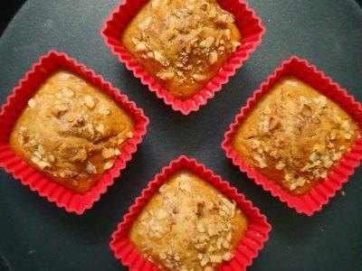 Eggless Whole Wheat Carrot Cupcake or Muffin