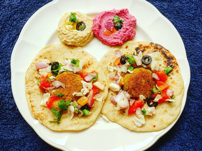 Beetroot and Garlic Hummus