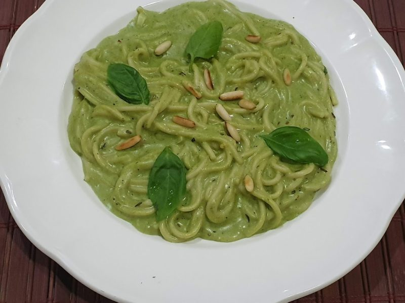 Creamy Basil Pesto Pasta