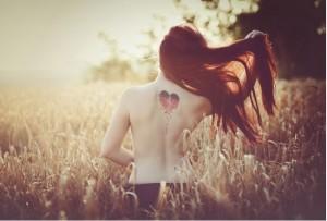 waist up naked girl