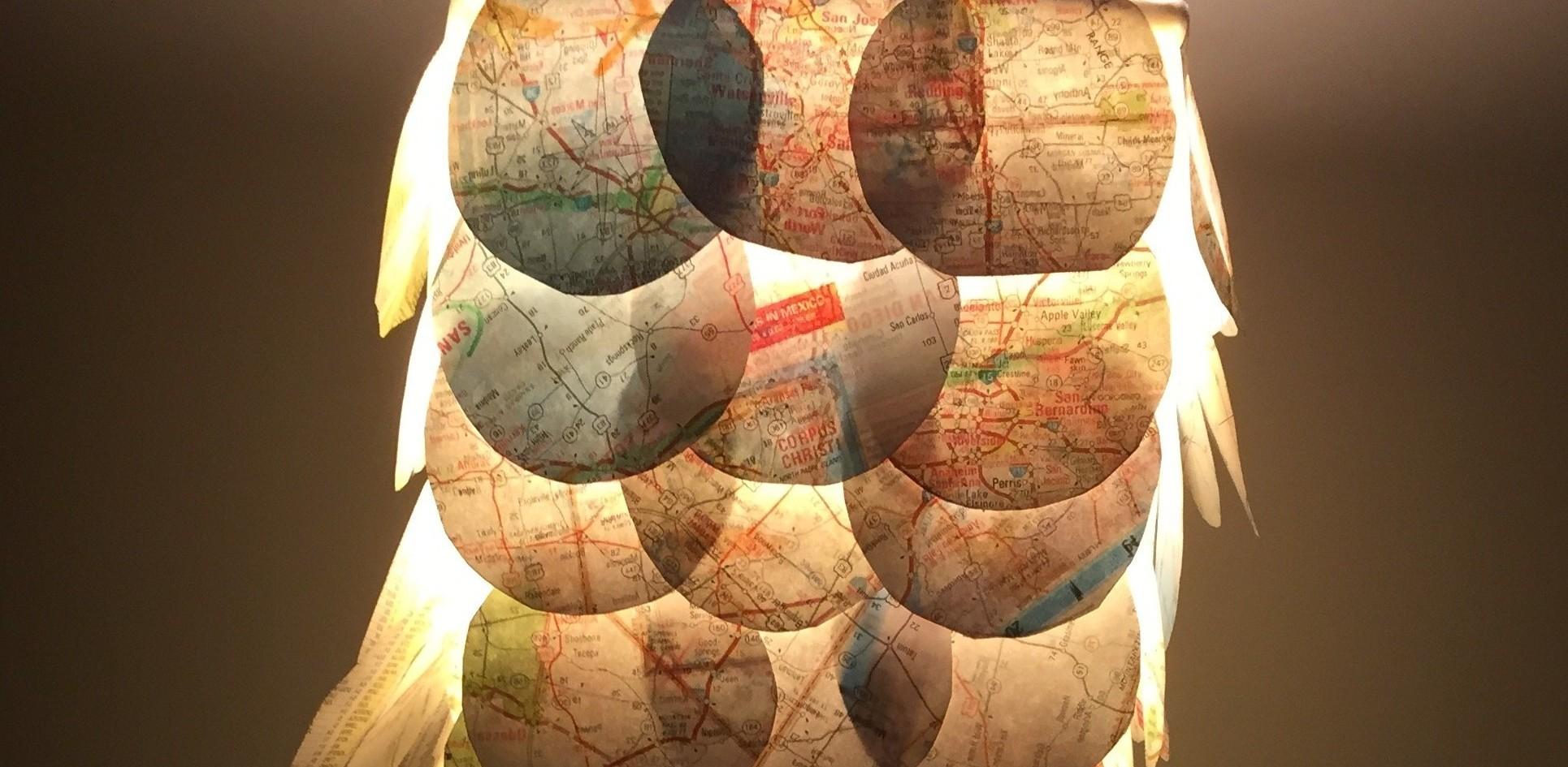 DIY: Paper Map Lamps