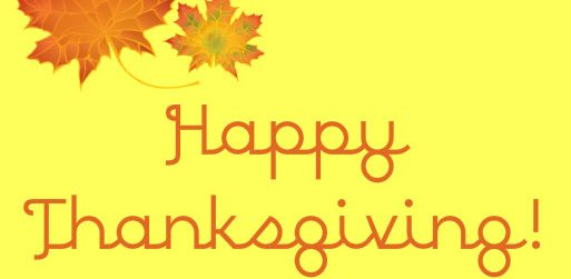 Wishing You All a Happy Thanksgiving!