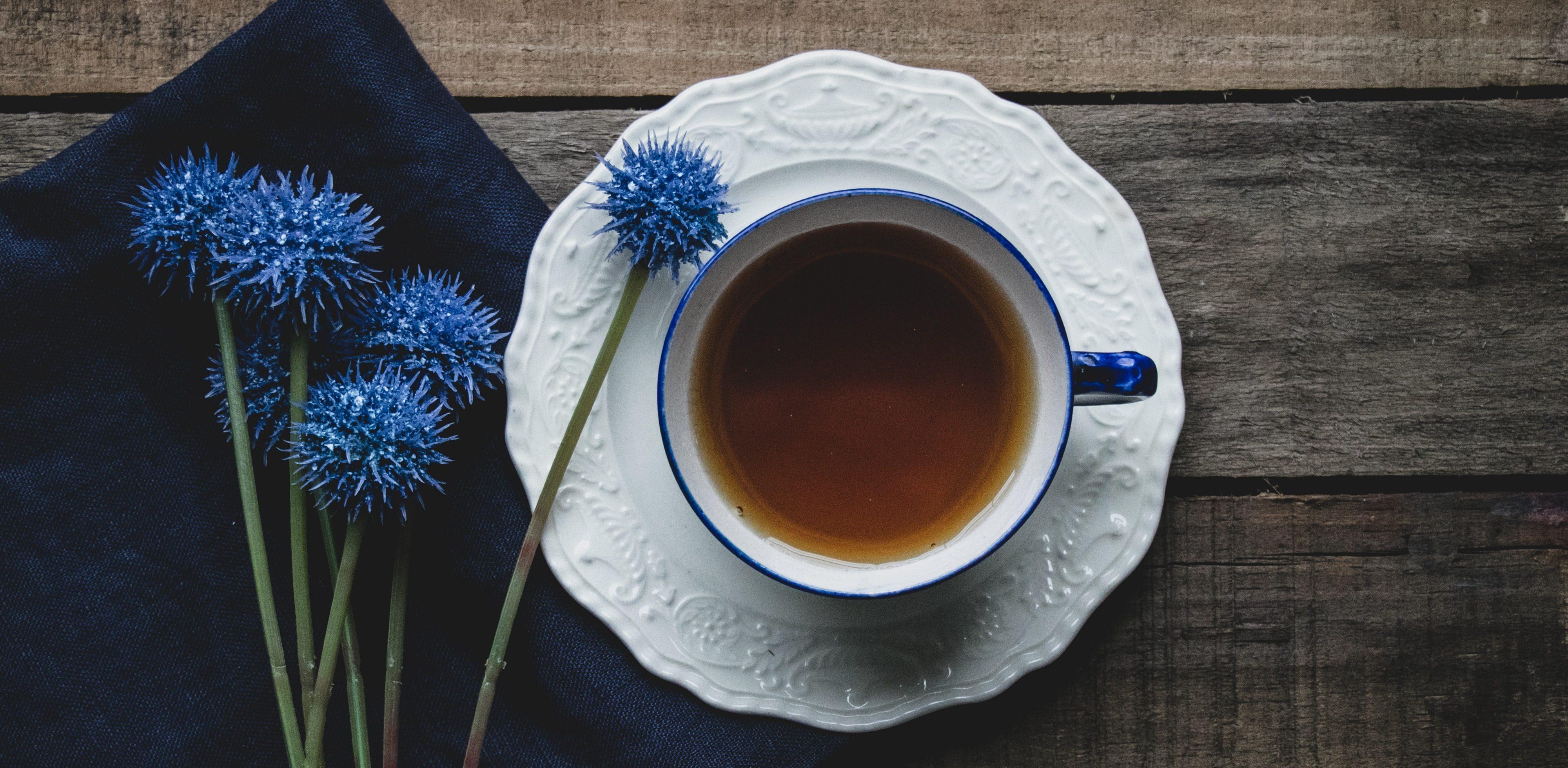 Like a tea set on terracotta tiles by Katie Preedy