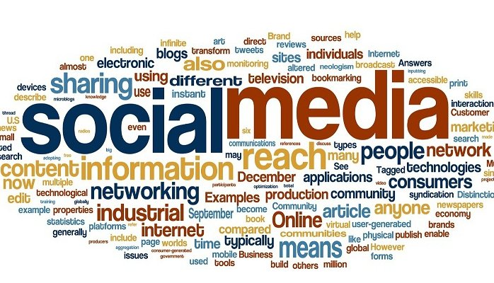 Word cluster: Social Media, networking, industrial, internet, online, article, etc.
