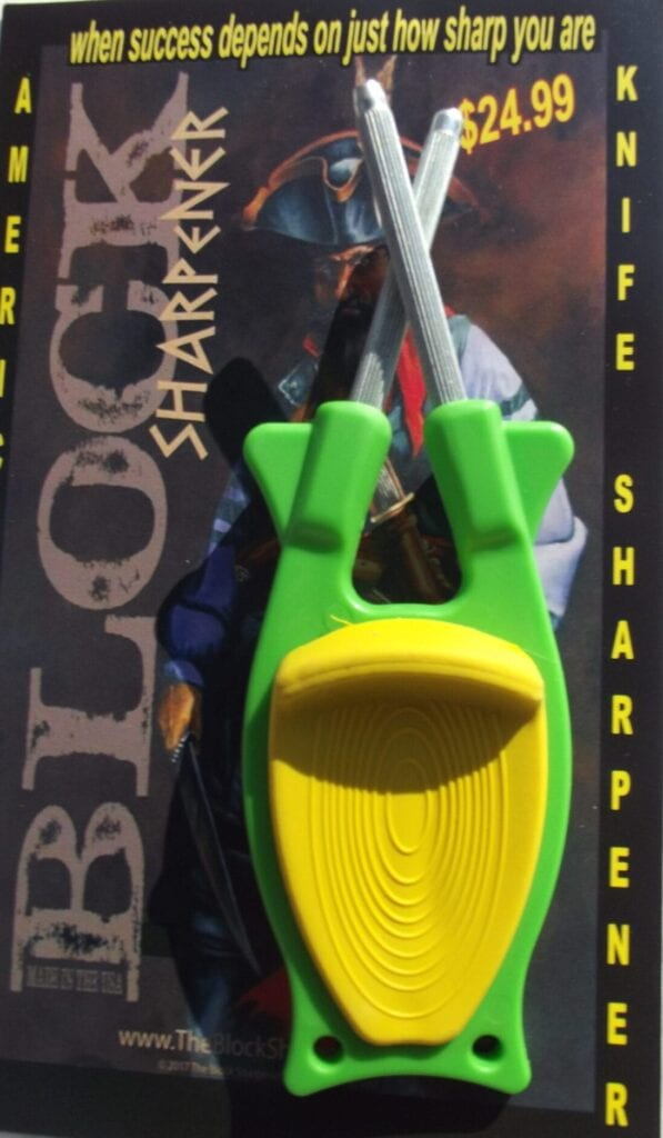 Green Pocket knife sharpener for sale