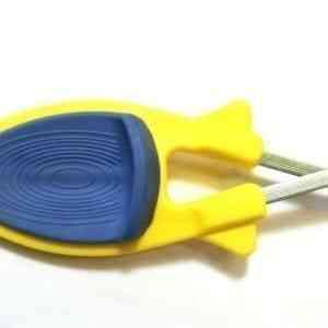 Yellow knife sharpener