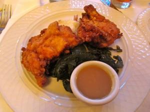 Fried Chicken, Collard Greens and gravy