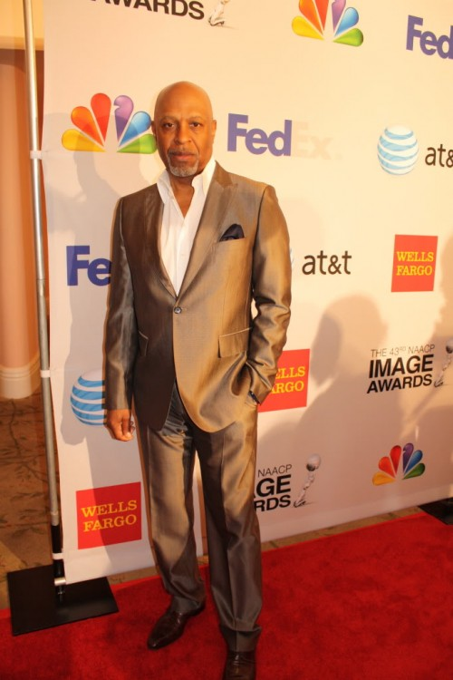 Photo:  The Chocolate Voice.  Actor James Pickens, Jr. at 2012 NAACP Image Awards Luncheon.