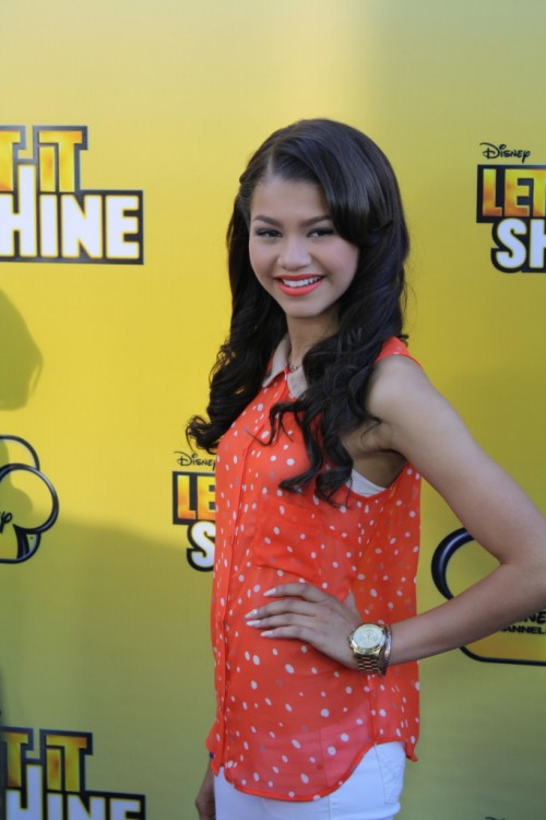 "Photo credit:  Shanda Pierce, The Chocolate Voice. Zendaya in 2012 at the Premiere of Disney's, ""Let it Shine"""