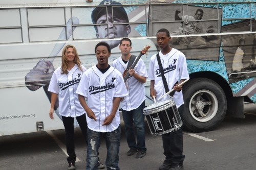 L-R (Kim McKewon, Andrew Pena (Bass), Jermain Wilson (Rapper) and, Orin Bridgeforth (Drummer)
