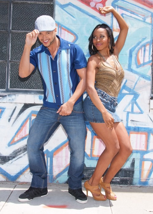 Jai Rodriquez (left) as Usnavi and Danielle Mone Truitt (right) as Vanessa Photo Credit: Ed Krieger