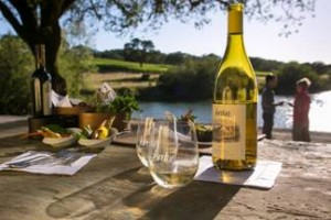 Visitor experiences at the estate include wine and food tasting. Photo Credit: Frank Mangio