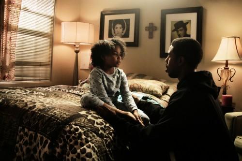 Actor Michael B. Jordan as Oscar Grant, and Ariana Neal as Tatiana