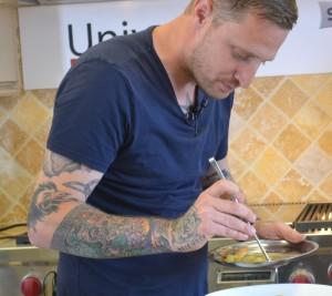 Chef Michael Voltaggio in action Photo Credit: Gwen Pierce