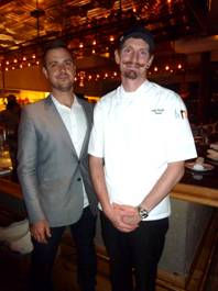 Searsucker GM Nick Baker and Chef Andy Philips.