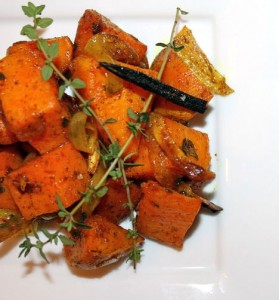 Curried Baked Sweet Potatoes