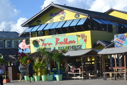 A must stop is at DA Fish Fry! It is located just a few minutes outside of down town Nassau in between there and Cable Beach. This is a great spot to try some local food, like the famous Conch Salad and Conch Fritters.