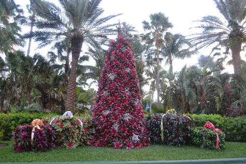 Landscape Gardeners at The Atlantis, showed of their amazing gardening skills during the holidays.