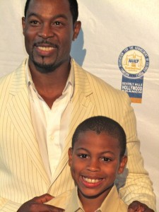Darren and Son at the NAACP Theatre Awards in 2011.
