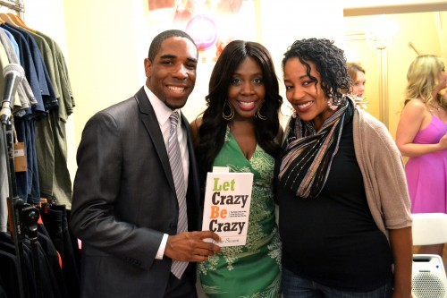 This photo of Elaine Swann (C) was taken at launch party  in Del Mar, CA at Bella Body Boutique. Also pictured, DeJuan and Callie Hoggard.