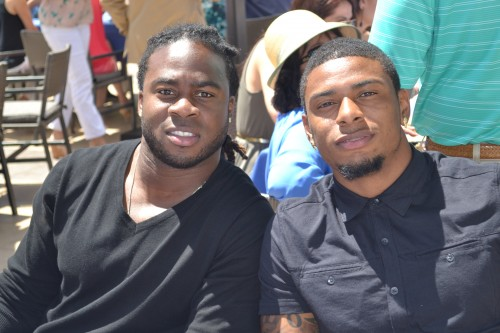 San Diego Chargers came out in support of the worthy cause (L) Jahleel Addas.