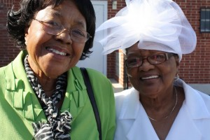 Pictured my Mama, Lula Hunter (L) pictured with friend Sister Effie Gregory (R) (The two ladies share grandchildren)