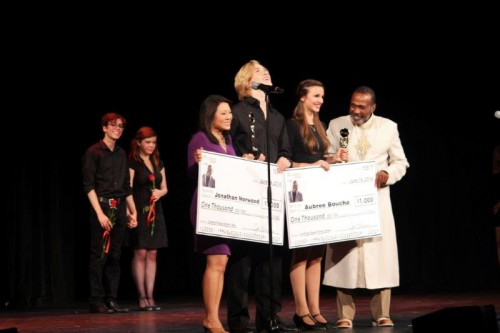 Jonathan Norwood of Classical Academy High and Aubree Bouche, of La Costa Canyon High  are the winners of the 2014 Ben Vereen Awards.  Region. Photo credit:  Rochelle Porter