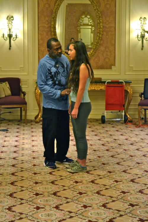 During Master Class Ben Vereen works with  Alexandria Loucks of the San Diego School of Creative and Performing Arts.  Alexandria is a finalist in the Best Actress category