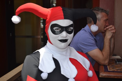 """We disturbed the """"Joker"""" during her lunch. She looked mad, but we handled her with that """"Chocolate Voice"""" smile."""