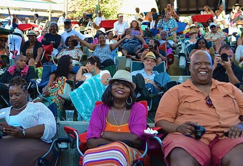 Fans enjoy the sounds of smooth jazz at the creek. Photo credit: Trevor Jacobs