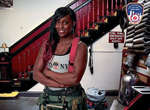 Dane Mines, Firefighter becomes first female featured in the  FDNYcalendar of heroes.