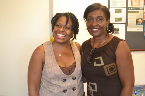 Cupcake Brown on the left pictured with long time supporter and assistant, Myra.