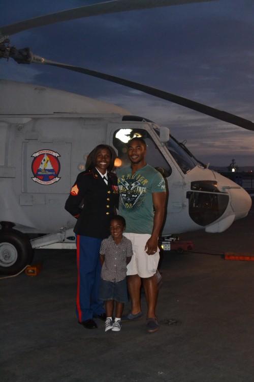 San Diego celebrates veteran Rose Reed and Family.  Photo;  Jordan Brooks