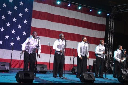 M.A.N.D.A.T.E. Recording Men 4 Christ, perform on the U.S.S. Midway.