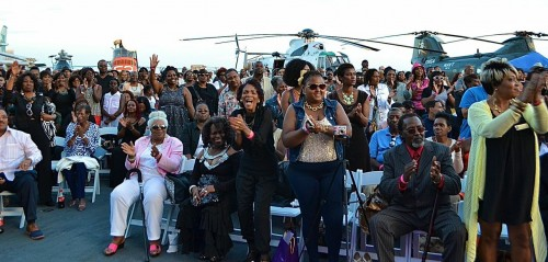 Audience shows their support for Gospel on the Bay!  Photo:  Trevor Jacobs.
