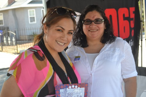 Staff of Assembly Women Lorena Gonzalez, District 80 poses for a photo in between sharing information.