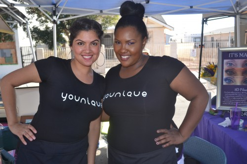 Lovely ladies from Younique Beauty products all smiles.