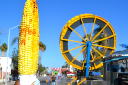 Grilled corn and carnival rides a big hit at the festival.