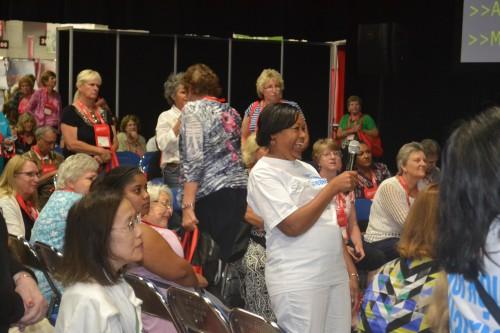 Attendee asks Martha Stewart question.