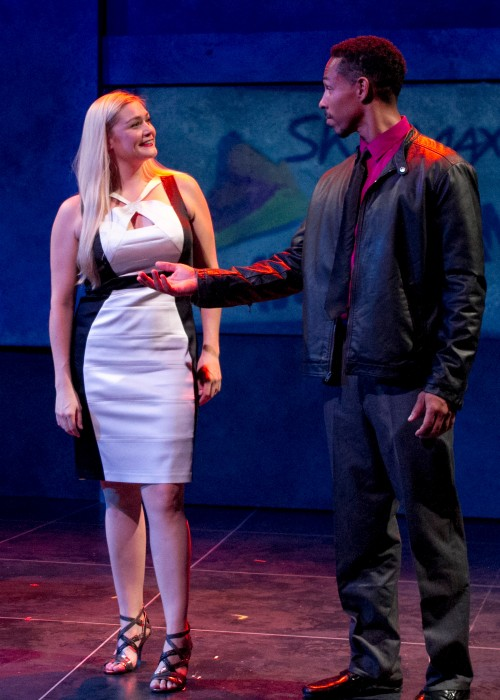 Pictured Jacque Wilke who plays Andie and, Gerard Joseph as Thomas. Photo Credit:  Daren Scott