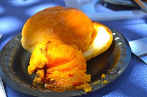 "2014 Meet the Chefs event: Sweet Potato Casserole courtesy of Sous Chef Antonio ""El Tigre"", Ruths Chris Steak House Del Mar"