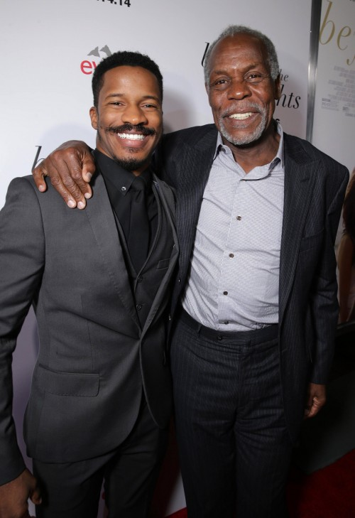 """Nate Parker and Danny Glover attends the premiere for Relativity Studios' and BET Studios' """"Beyond the Lights"""" held at the Arclight Hollywood theater on Wednesday, Nov 12, 2014, in Los Angeles. (Photo by Eric Charbonneau/Invision for Relativity Studios/AP Images)"""
