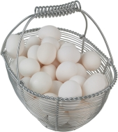 egss in basket white
