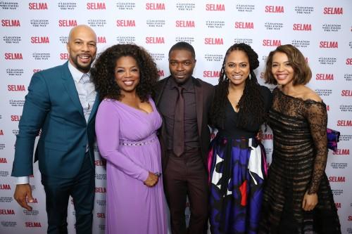 Common, Oprah Winfrey, David Oyelowo, Ava DuVernay, Carmen Ejogo/ .(Photo: Michael Underwood / ABImages)