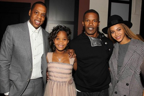 Producer, Jay Z, Quvenzhane Wallis, Jamie Foxx and Beyoncé