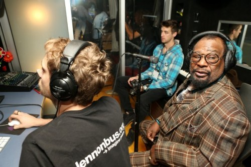 George Clinton, Clinton, was onsite at NAMM 2015 as a guest songwriting mentor to work with students from Berklee College's,Berklee City Music Network.