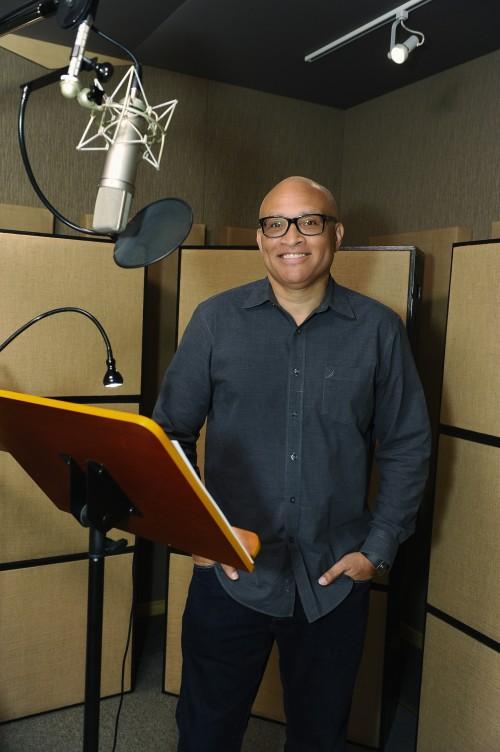 PENN ZERO: PART-TIME HERO - Recording session. (Disney XD/Michael Yada) LARRY WILMORE