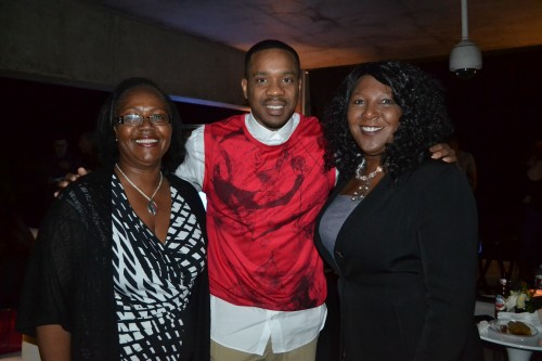 Duane Martin, Real Husbands of Hollywood was on hand to celebrate with friends.  What a nice guy!  Also pictured:  The Chocolate Voice Gwen Pierce,  (L) and Stephanie Ringgold (R)