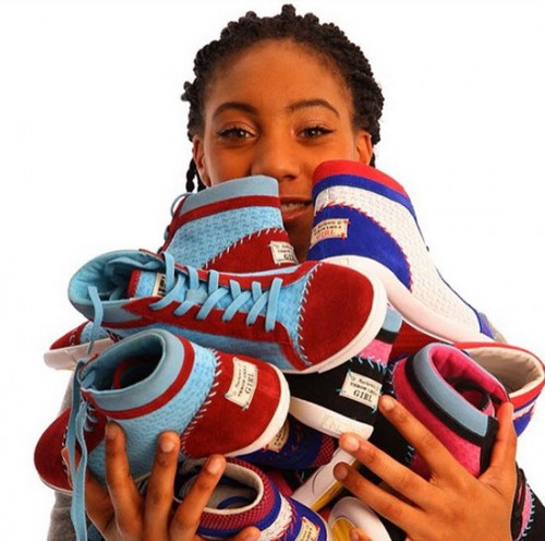 The Mo'ne Davis Sneaker Collection is available at Made Shoes.